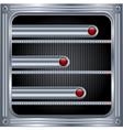 Metallic background with sliders vector image