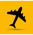 travel concept transport airport plane button vector image