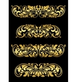 Golden floral elements and embellishments vector image vector image