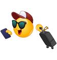 air traveler emoticon vector image vector image