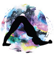 women silhouette dolphin yoga pose ardha pincha vector image