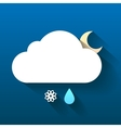 Night cloud snow flake and rain drop isolated on vector image vector image