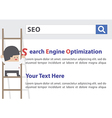 Businessman doing Search Engine Optimization or SE vector image