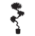 House and office tree bonsai silhouette vector image