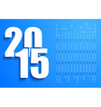 Blue 2015 calendar vector image