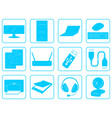 blue goods icons of computer online store vector image