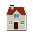 house frontview icon vector image