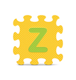 letter Z written with alphabet puzzle vector image