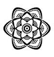 painted flower dots mandala vector image
