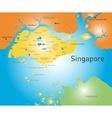 Republic of Singapore vector image