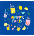 Summer party lemonade card vector image