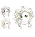 girls head vector image vector image