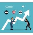 teamwork support design vector image