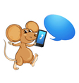 mouse mobile and call out vector image