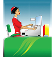 Cashier vector image vector image