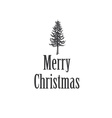 Simple Marry Christmas greeting card with pine vector image