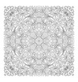 floral pattern coloring book page for vector image