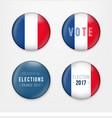 france presidential election voting badges set a vector image