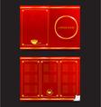 Chinese food restaurant oriental menu 002 vector image