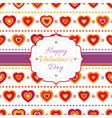 Background with bright hearts vector image