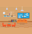 interior living room design relax with sofa vector image