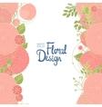 Vertical floral border vector image