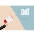 ad flat design business vector image