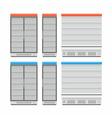 Empty Showcase Refrigerator vector image
