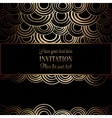 Abstract background with antique luxury black and vector image
