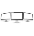 computer monitors vector image vector image