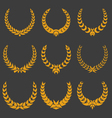 set of monochrome wreaths vector image
