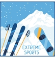 Extreme sports on background of mountain winter vector image vector image