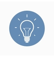 Simple light bulb icon vector image vector image