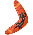 Australian boomerang cartoon vector image