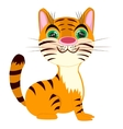 Striped tigress on white background vector image