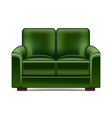 Green sofa isolated on white vector image vector image