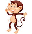 Little monkey dancing alone vector image vector image