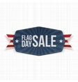 Flag Day Sale realistic Banner with Ribbon vector image