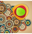 Abstract Background with Paisley Mehndi Doodles vector image