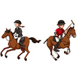 Athletes doing equestrain and polo vector image