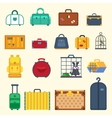Bag set Icon isolated travel flat style vector image