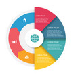 circle infographics template image vector image