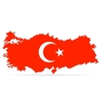 Creative pixel Turkey map vector image