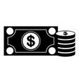 currency bill icon image vector image
