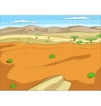 Educational game African savannah background vector image