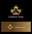 home building canada gold logo vector image