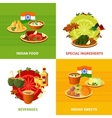 Indian Food 4 Flat Icons Square vector image
