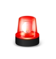 Red flashing siren vector image