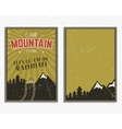 Retro summer or winter holiday posters Travel and vector image