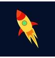 Rocket in space icon cartoon style vector image